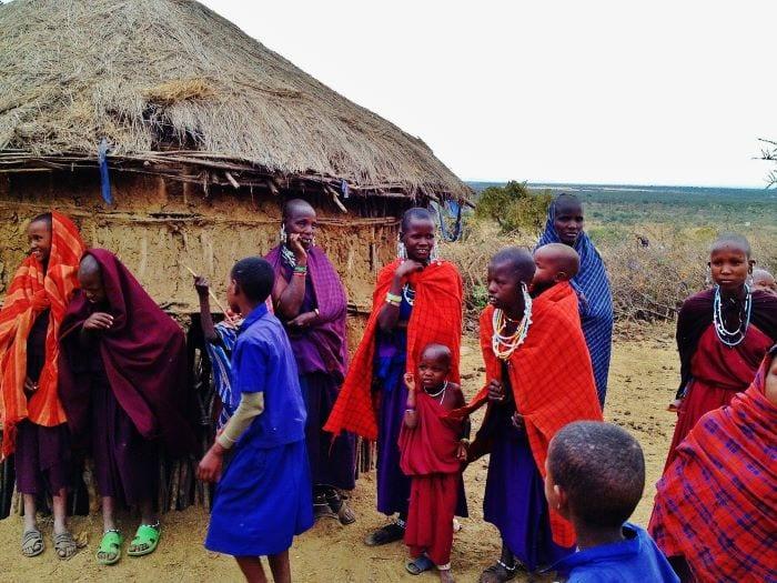 Традиционная хижина семьи Масаев в Танзании
