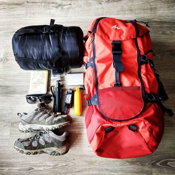 Все вещи удобно паковать в рюкзак