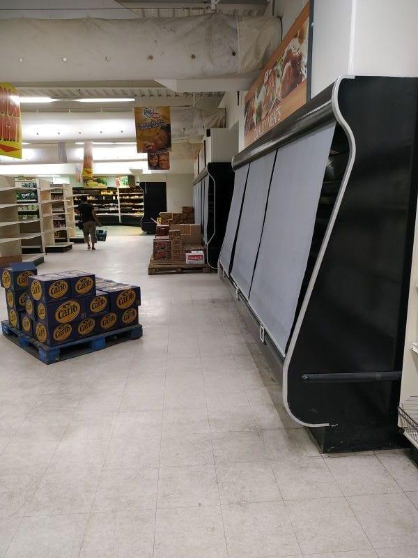 Единственный супермаркет, который нам удалось найти открытым