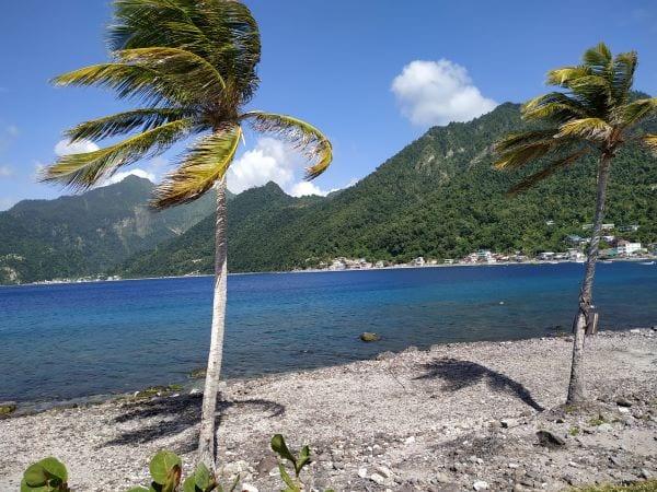 Ветряный день на Доминике