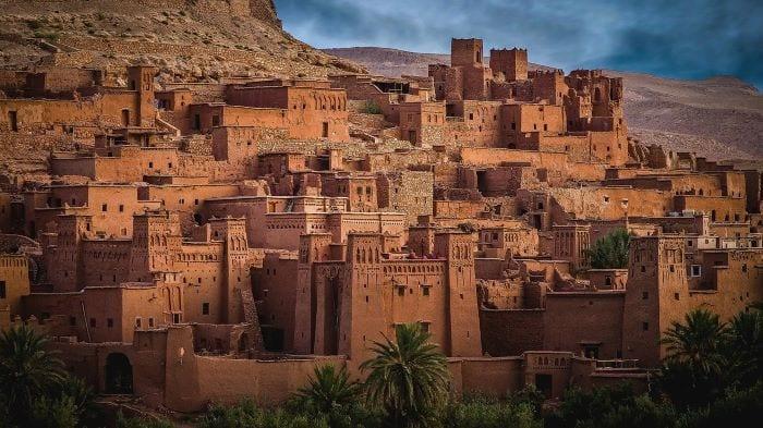Деревня Айт Бен Хадду в Марокко