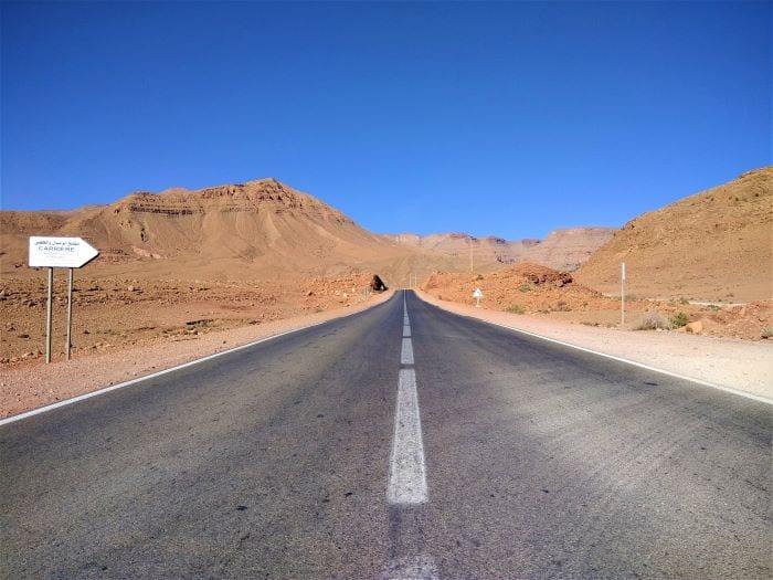 Дорога в Марокко к пустыне