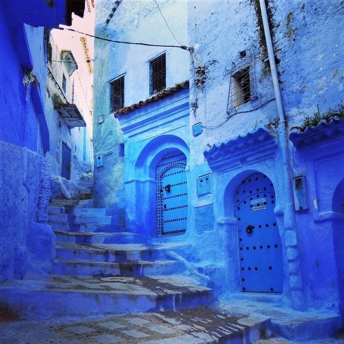 Голубой город Шефшауэн в Марокко