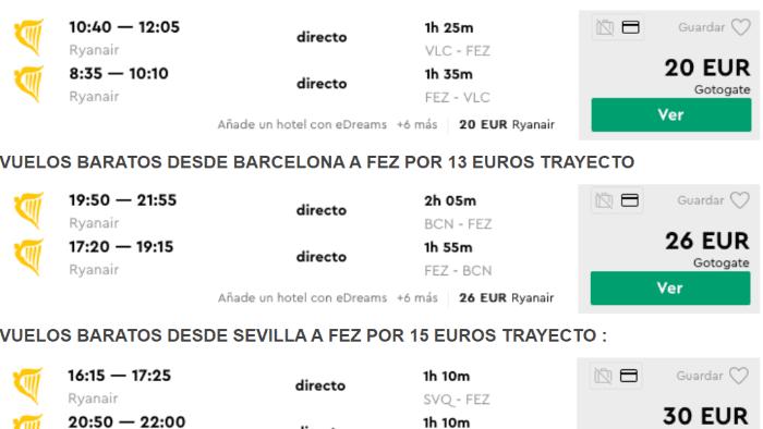 Дешевые перелеты до Марокко