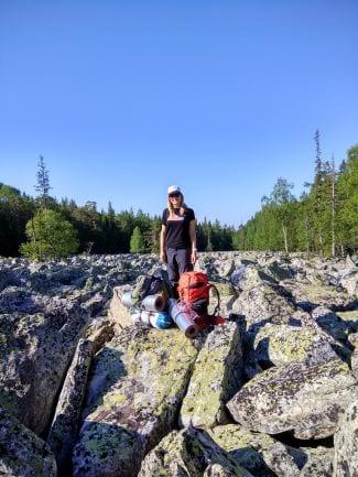 Каменная река в парке Таганай