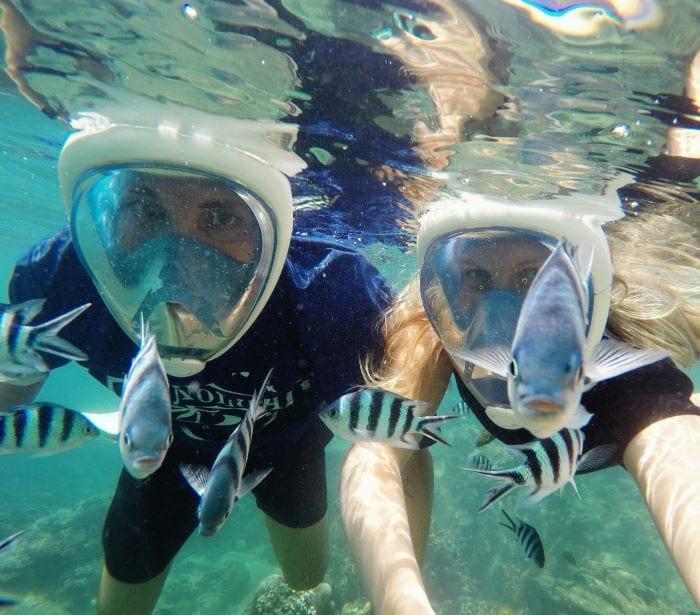 Плавание с маской на Тиомане