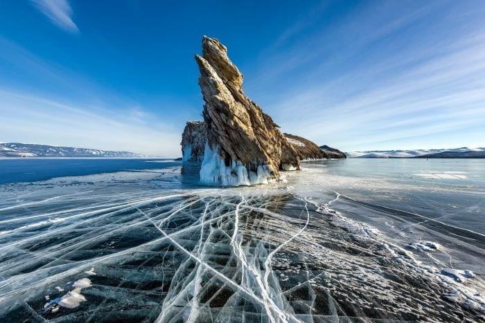 Озеро Байкал зимой Бурятия