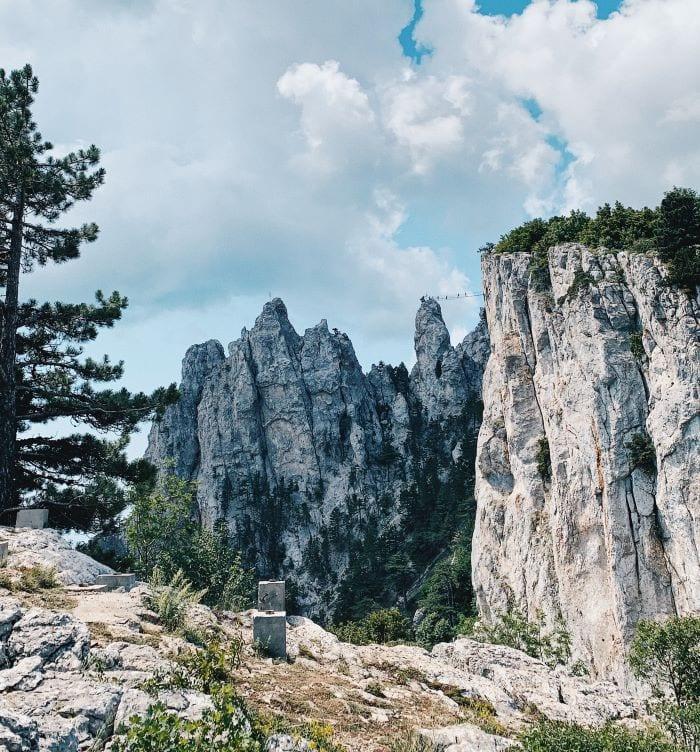 Гора Ай-Петри подвесной мост