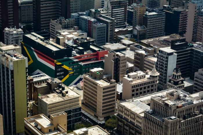 Йоханнесбург вид сверху